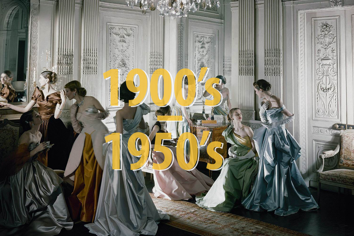 Favorite work Briefly about Fashion History of the first half of the twentieth century in pictures. A time line where you can track how the fashion has changed over the years.