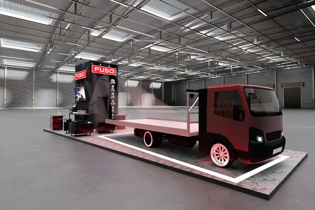 Exhibition stand Fuso